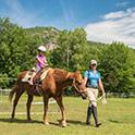 Fields of Attitash horsback riding