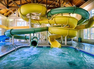 Indoor water park at Hampton Inn in North Conway NH