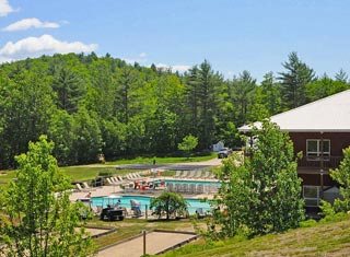 North Conway NH area campgrounds - The Bluffs RV Resort in Freedom NH