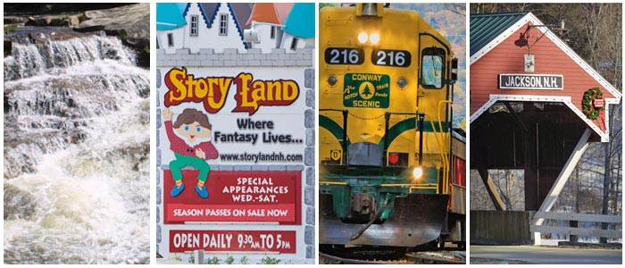 North Conway NH Area Attractions photo collage
