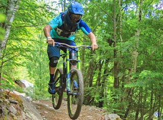 Mountain biking at Attitash Mountain Resort in Bartlett NH