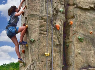 North Conway NH area climbing wall at Attitash Mountain Resort in Bartlett NH