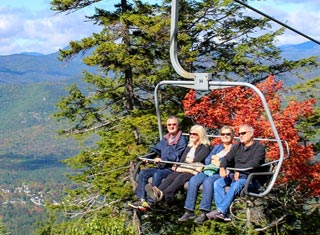 Scenic chairlift at Attitash Mountain Resort in Bartlett NH