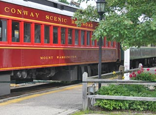 All aboard the Conway Scenic Railroad in North Conway Village
