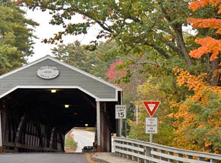 Swift River covered bridge in Conway NH