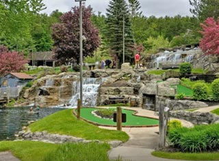 Play mini golf at Pirate Cove Adventure Golf in North Conway NH