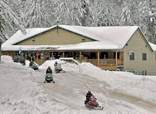 Snowmobiling at Danforth Bay Camping & RV Resort in Freedom