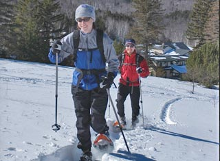 Snowshoeing at Great Glen Trails Outdoor Center