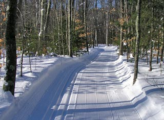 Cross country ski or snowshoe North Conway's intown trail network