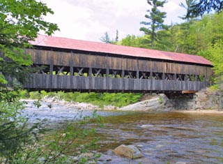 North Conway NH area covered bridge - Albany NH