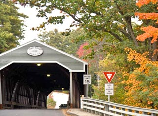 North Conway NH area covered bridge - Conway NH