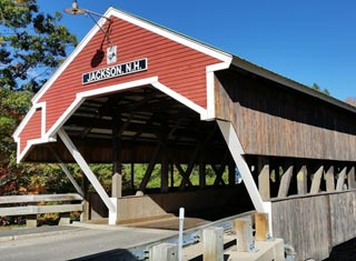 North Conway NH area covered bridge in Jackson NH