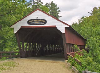 North Conway NH area covered bridge - Swift River Bridge in Conway NH