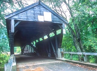 North Conway NH area covered bridge in Ossipee NH